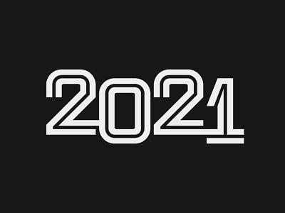 2020 + 1 sanserif inline newyear 2021 typography