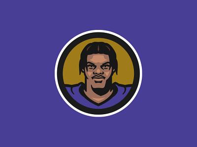 Lamar Jackson mvp lamar jackson baltimore ravens ravens baltimore sports nfl vector design football illustration sports branding