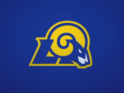 Los Angeles Rams superdesignbowl rams losangeles design sports branding football logo sports