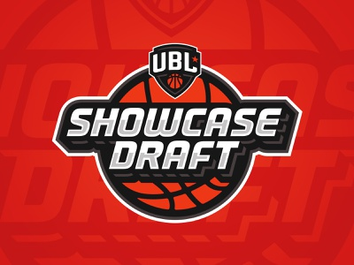 UBL Showcase Draft badge basketball typography design sports branding logo sports