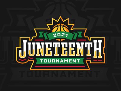 Juneteenth Tournament juneteenth badge tournament basketball sports branding logo sports