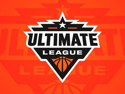 Ultimate League league basketball badge branding design sports branding logo sports