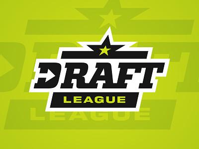 Draft League badge league basketball design sports branding logo sports