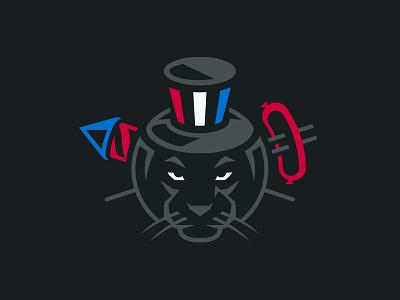 4th of July panther fireworks america illustration sports branding logo sports