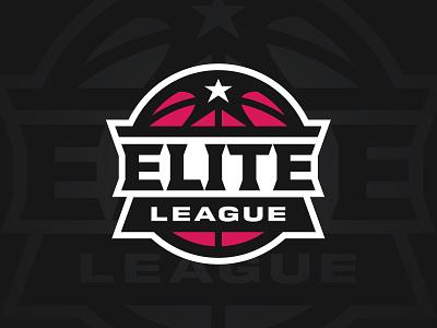 Elite League sports logo sports branding design branding badge basketball league