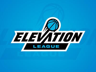 Elevation League jump elevate basketball league badge branding design sports branding logo sports