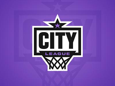 City League backboard city badge league basketball branding sports branding logo sports