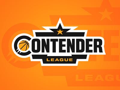 Contender League branding basketball league badge sports branding logo sports