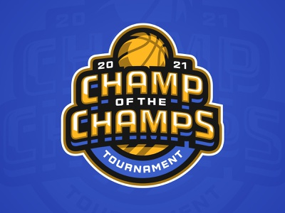 Champ of the Champs Tournament tournament badge champions trophy champs basketball sports branding logo sports