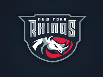 Rhinos rhino sports logo shield
