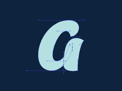 Anchors typography type beziercurves bezier anchor letter lettering a