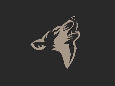 Wolf logo animal shadow icon illustration wolf