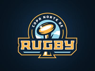 Copa Norte de Rugby design illustration ball badge sports logo championship rugby