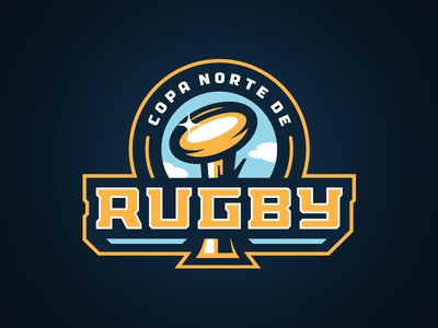 Copa Norte de Rugby design illustration ball badge sports logo championship rugby