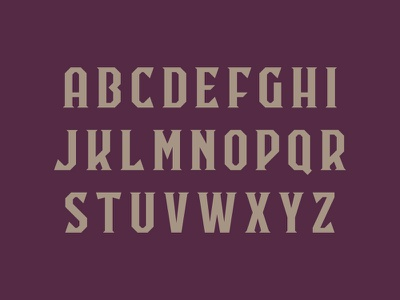 Font letters type block serif typography font