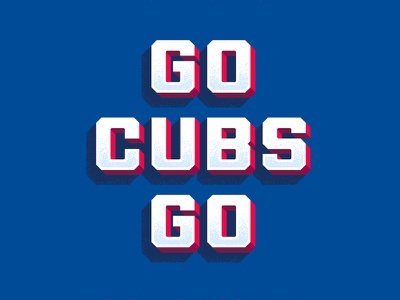 Cubs texture color font shadow typography type world series baseball cubs chicago