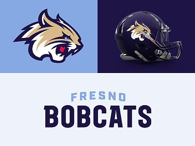 Fresno Bobcats sports branding design sports football bobcats fresno theuflproject typography