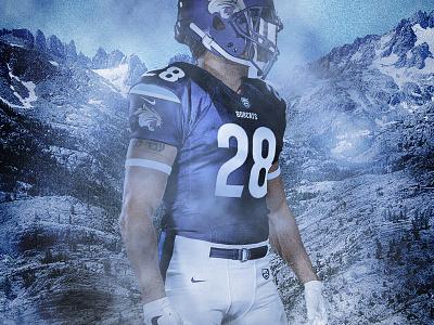 Fresno Bobcats Uniform uniform typography sports branding design sports football bobcats fresno theuflproject