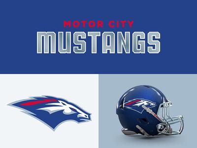 Motor City Mustangs sports branding design sports football mustangs detroit motor city theuflproject typography