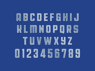 Motor City Mustangs Typeface type design font typeface typography sports branding design sports football mustangs detroit motor city theuflproject