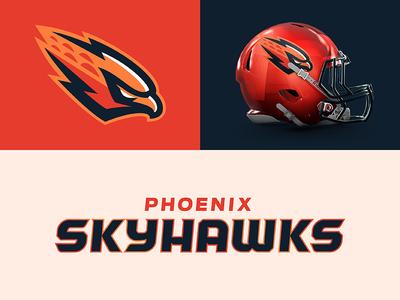 Phoenix Skyhawks typography sports branding design sports football skyhawk hawk arizona phoenix theuflproject