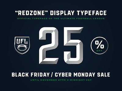 """Redzone"" 25% off font discount cyber monday black friday designtypography typefacetype"