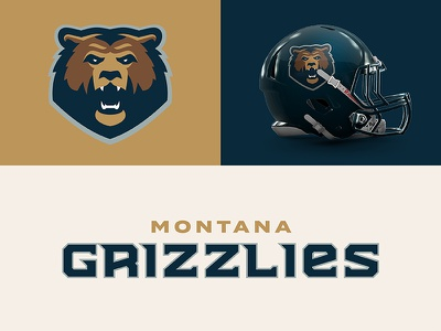 Montana Grizzlies typography sports branding design sports football grizzly montana theuflproject