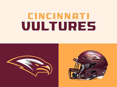 Cincinnati Vultures typeface sports branding design sports football vultures cincinnati theuflproject
