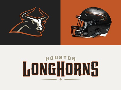 Houston Longhorns type design typeface sports branding design sports football longhorns houston theuflproject font