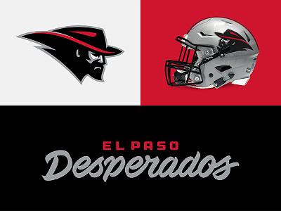 El Paso Desperados typeface sports branding design sports football desperados elpaso theuflproject