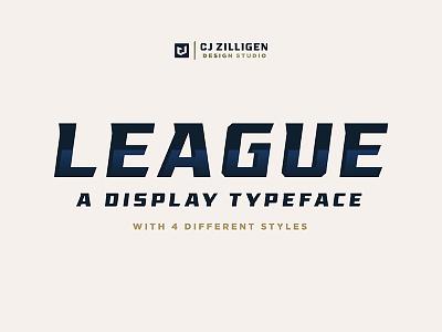 League Display Typeface sports branding sports font type design font typeface
