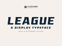 League Display Typeface