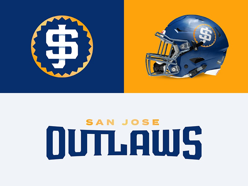 San Jose Outlaws font type design typeface sports branding design outlaws california sanjose theuflproject