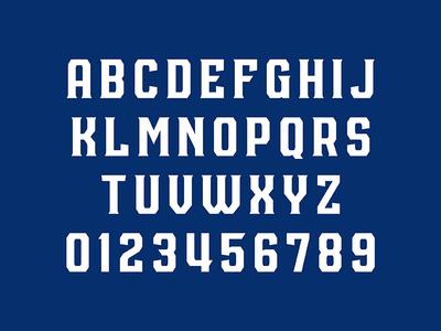 San Jose Outlaws Typeface