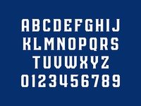 San Jose Outlaws Typeface
