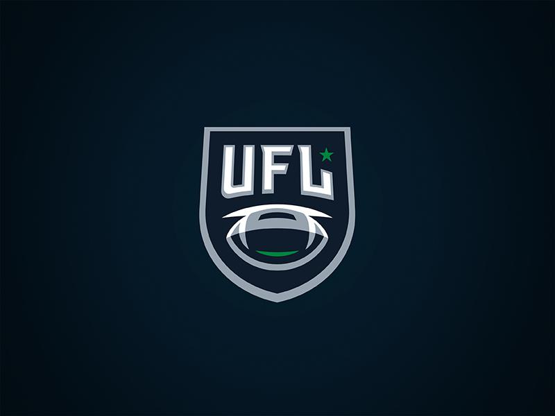 UFL 2.5 shield sports logo theuflproject branding typefacesports
