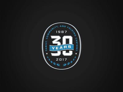 30 Years typography logo badge seal anniversary