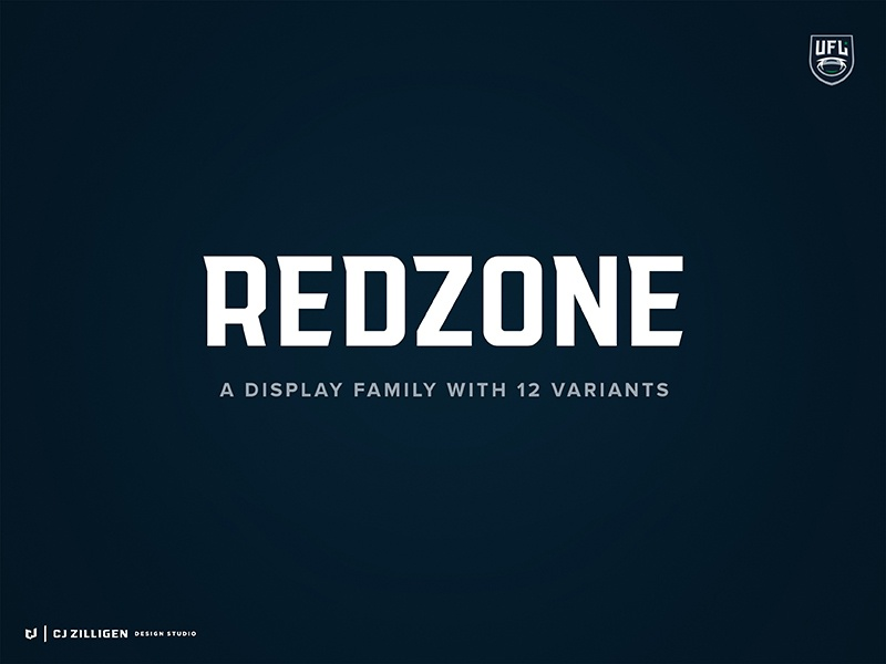 Redzone 2.0 theuflproject sports branding typography typeface design typeface font