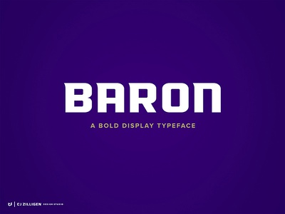 Baron Typeface display typeface font type typeface sports branding typography
