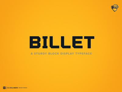 Billet Display Typeface