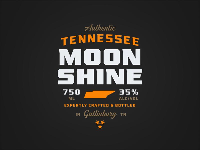 Moonshine font typeface design typography packaging label moonshine