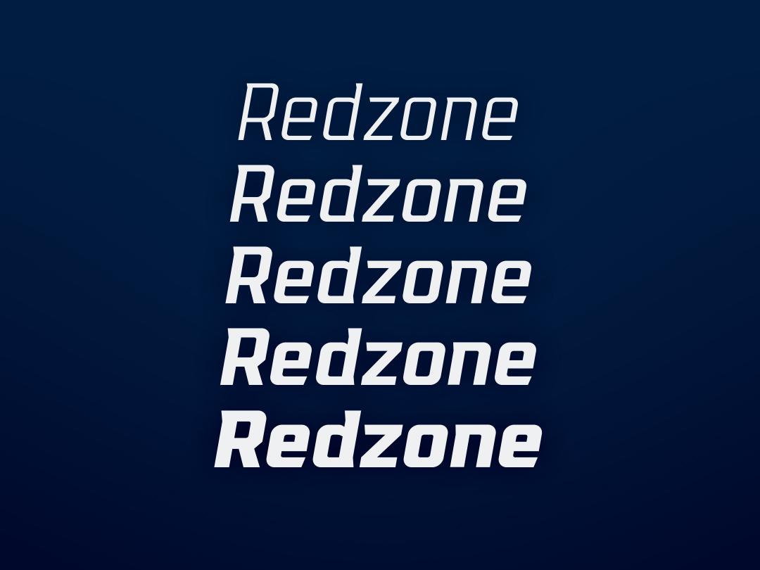Redzone 3.0 WIP type design sports branding font type typography typeface sports