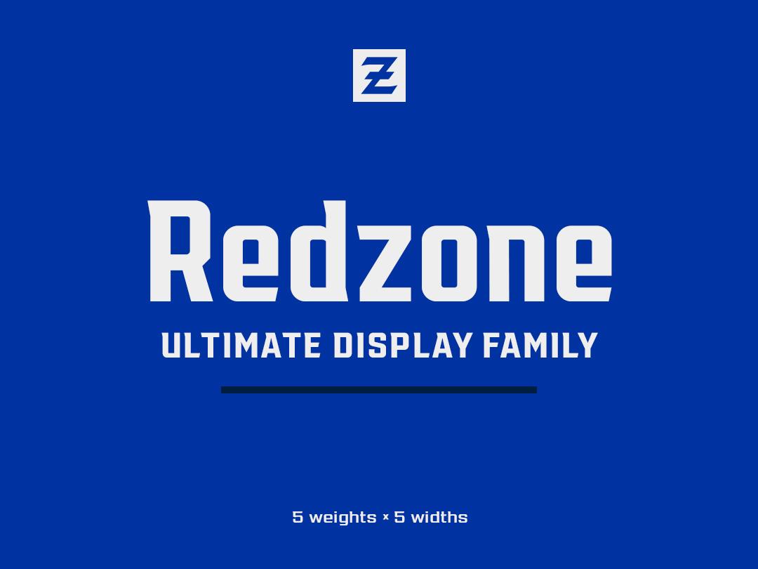Redzone Display Family baseball football type design branding type font typeface sports branding typography sports