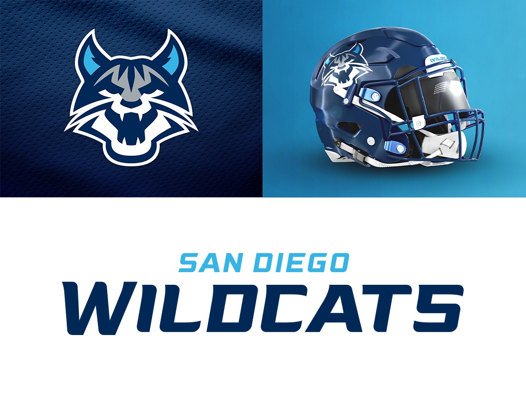 San Diego Wildcats on Behance branding ufl type design illustration font theuflproject sports branding typography football logo sports