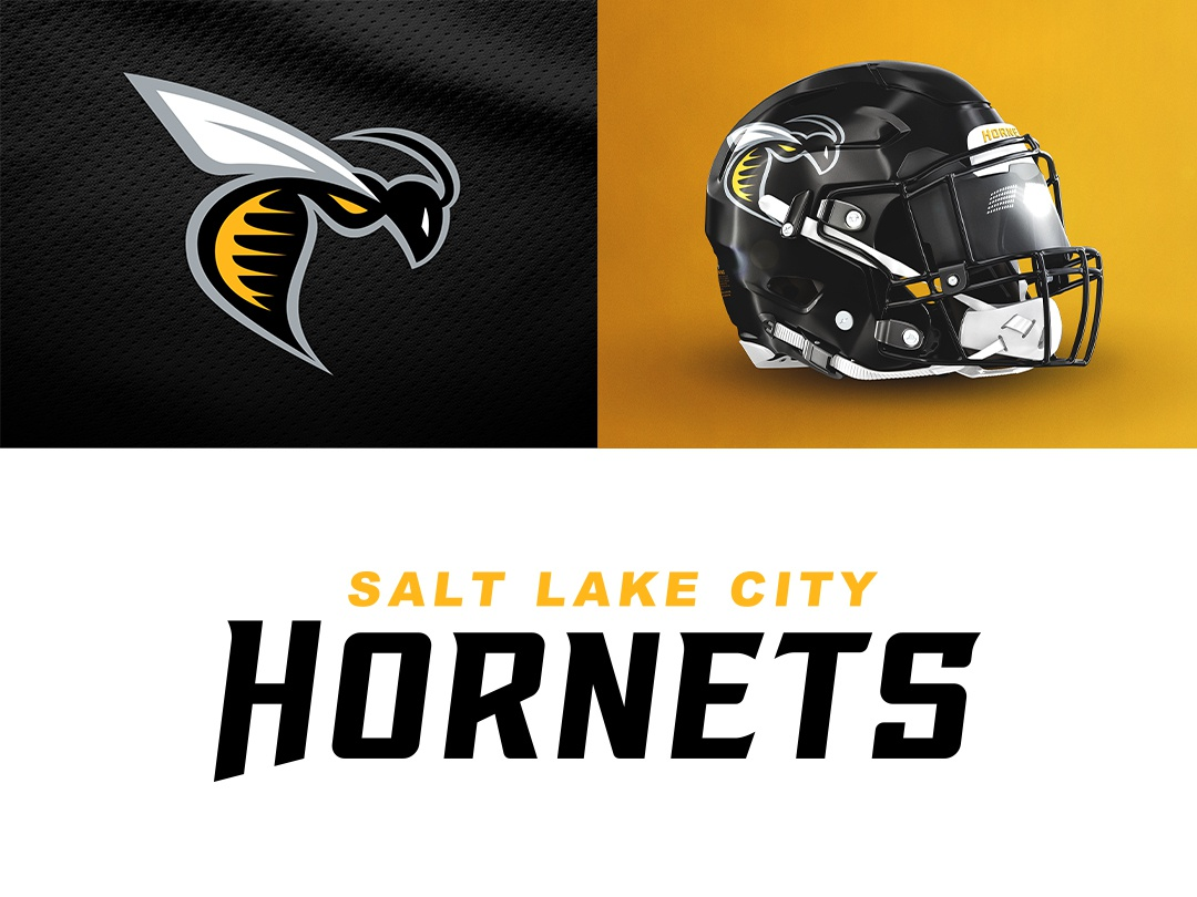 Salt Lake City Hornets on Behance type design logo ufl typography branding illustration font football sports theuflproject sports branding