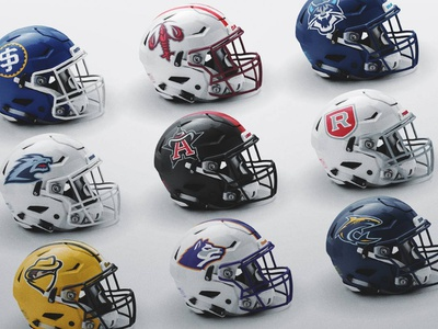 SpeedFlex Mockup helmet design sports logo football