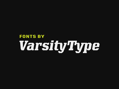 VarsityType.com type design branding type typeface font design sports branding typography sports