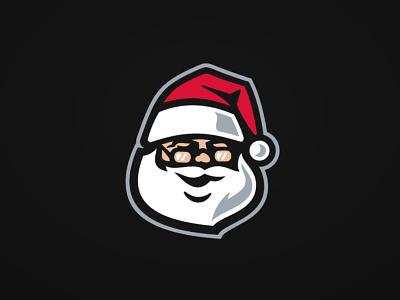 Merry Christmas! santa christmas sports branding vector illustration logo