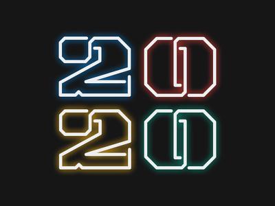2020 2020 newyear typeface vector design typography