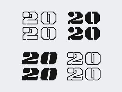 2020 Unused newyear typeface vector typography design 2020